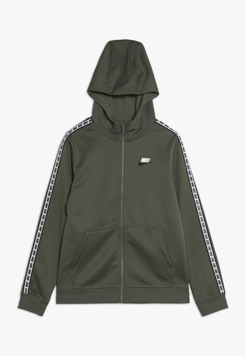 Nike Sportswear - HOODIE TAPED - Kurtka sportowa - medium olive/white