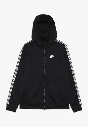 HOODIE TAPED - Training jacket - black/white