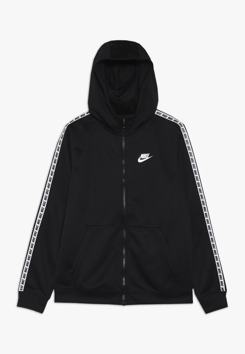 Nike Sportswear - HOODIE TAPED - Training jacket - black/white