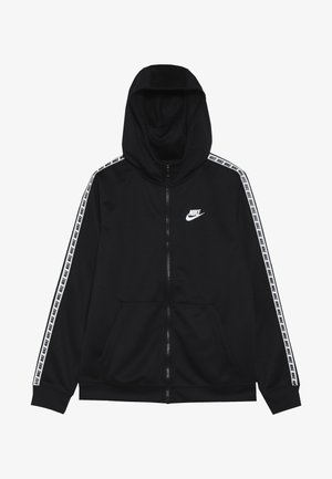 HOODIE TAPED - Veste de survêtement - black/white