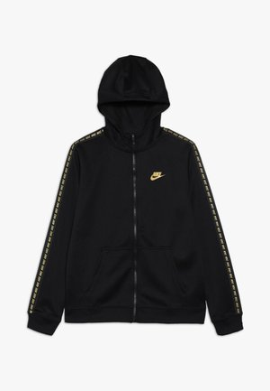 HOODIE TAPED - Veste de survêtement - black/metallic gold