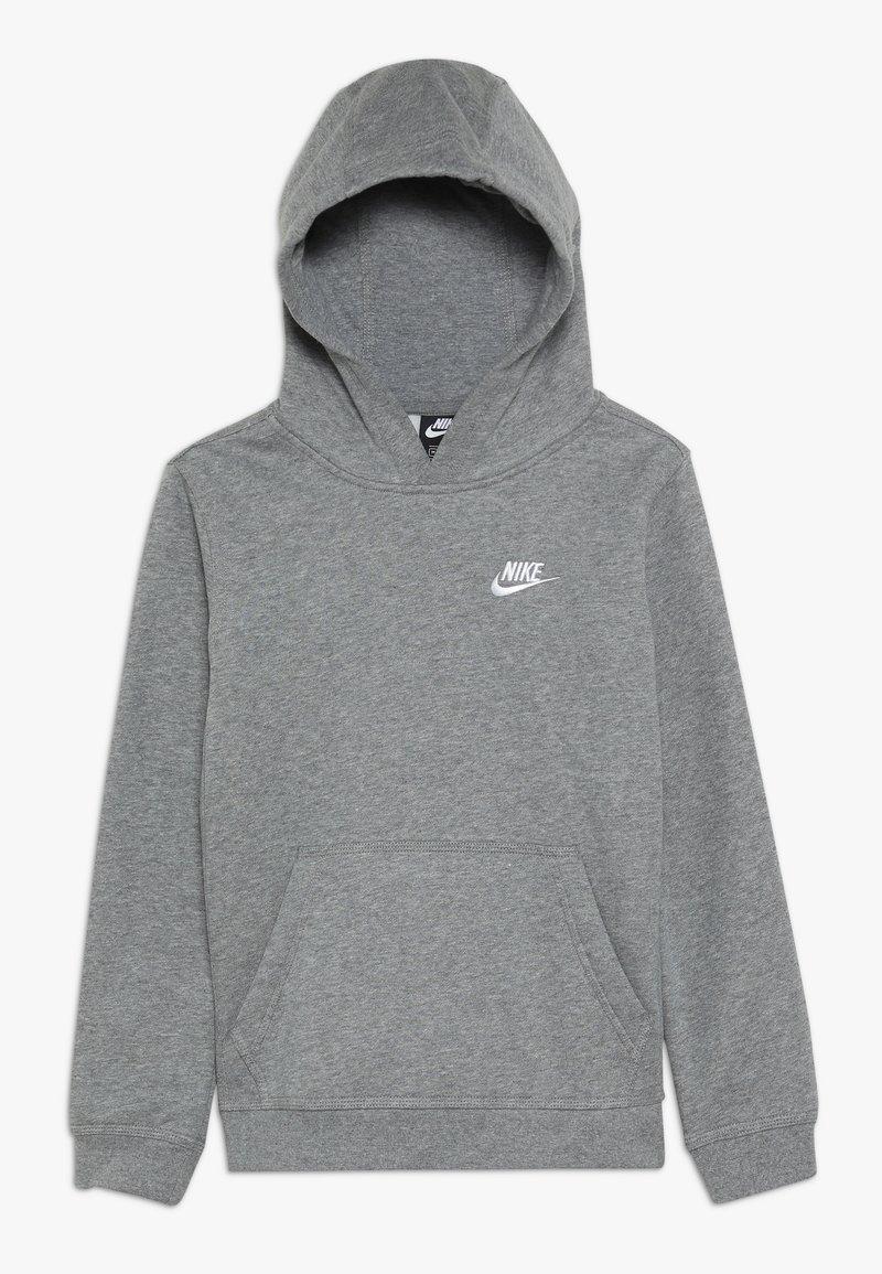 Nike Sportswear - HOODIE CLUB - Luvtröja - carbon heather/white