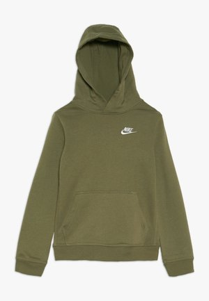 HOODIE CLUB - Hættetrøjer - medium olive/white