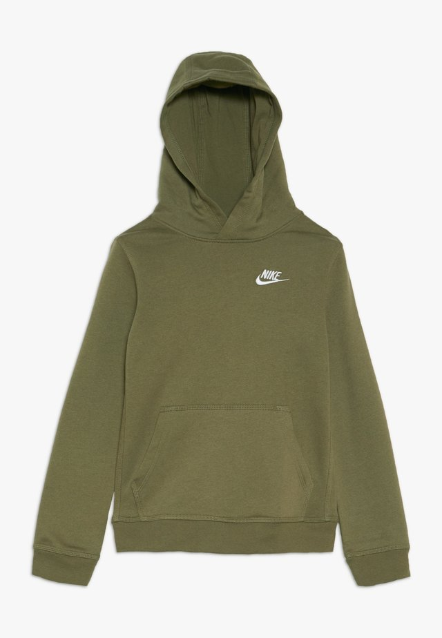 HOODIE CLUB - Jersey con capucha - medium olive/white