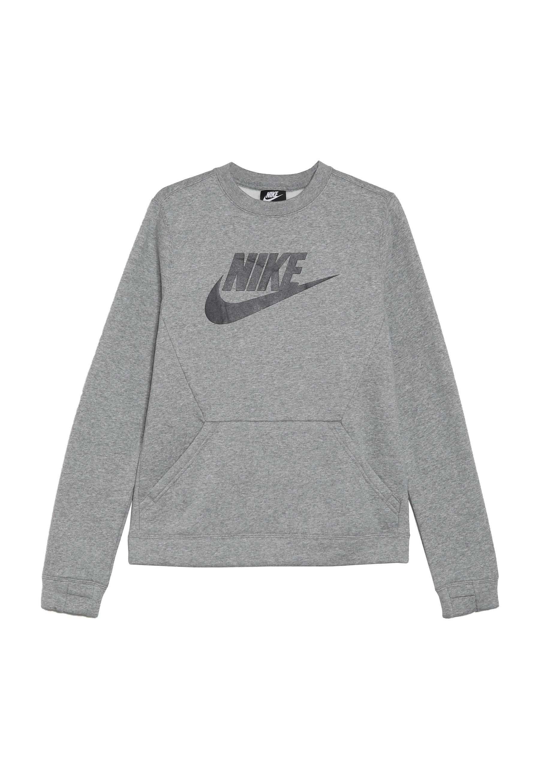 Nike Sportswear AIR CREW Sweatshirt dark grey heather