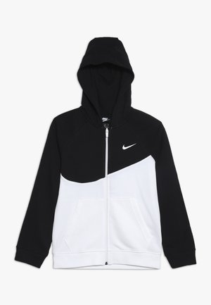 HOODIE  - veste en sweat zippée - white/black