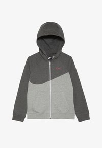 dark grey heather/charcoal heather/white/university red