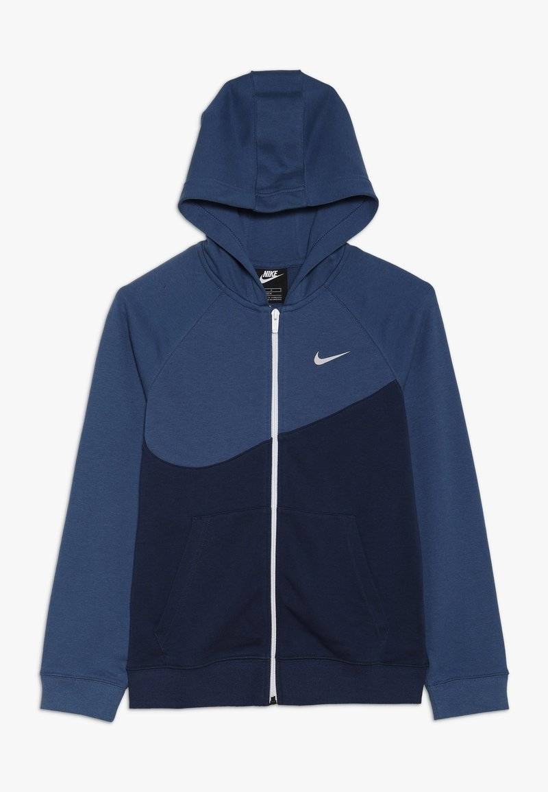 Nike Sportswear - HOODIE  - Zip-up hoodie - midnight navy/mystic navy/white/vast grey