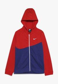 Nike Sportswear - HOODIE  - Felpa aperta - deep royal blue/university red/white - 0