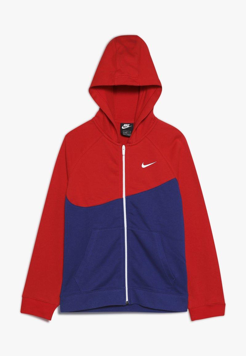 Nike Sportswear - HOODIE  - Felpa aperta - deep royal blue/university red/white