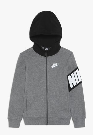 NIKE CORE HOODIE - Felpa aperta - carbon heather