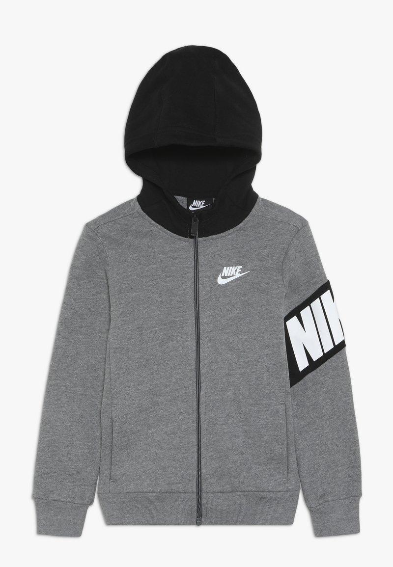 Nike Sportswear - NIKE CORE HOODIE - Bluza rozpinana - carbon heather