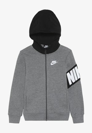 NIKE CORE HOODIE - veste en sweat zippée - carbon heather