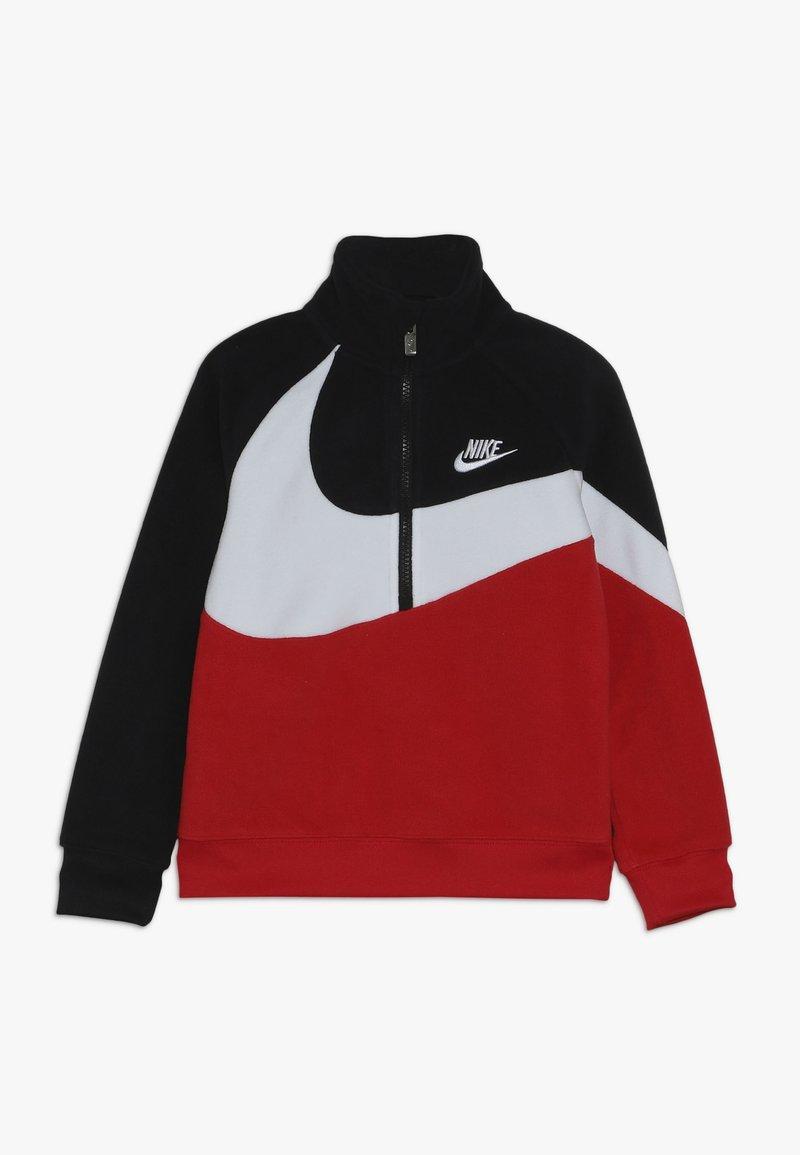 Nike Sportswear - SHERPA 1/2 ZIP - Bluza z polaru - black