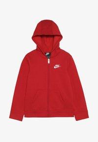 Nike Sportswear - CLUB HOODIE - Bluza rozpinana - university red - 3