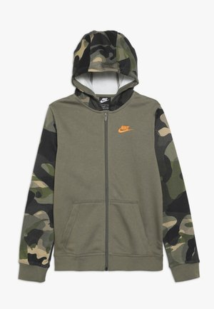 CLUB - Hettejakke - medium olive/total orange