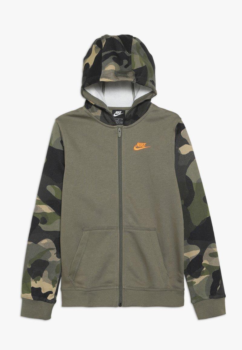 Nike Sportswear - CLUB - Collegetakki - medium olive/total orange
