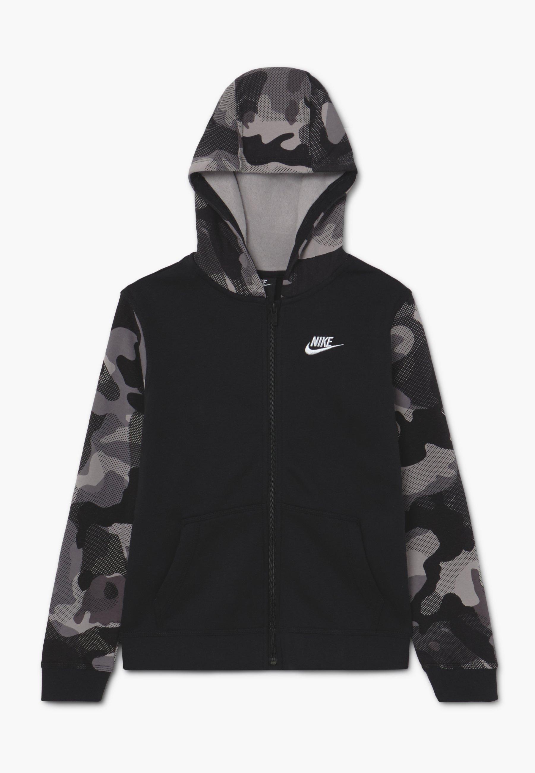 CLUB veste en sweat zippée blackwhite