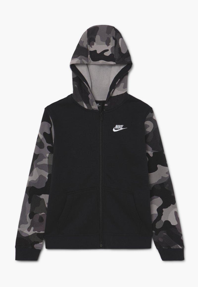 Nike Sportswear - CLUB - veste en sweat zippée - black/white