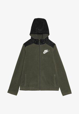 WINTERIZED - Zip-up hoodie - medium olive/black