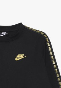 Nike Sportswear - REPEAT CREW  - Langarmshirt - black/metallic gold - 3