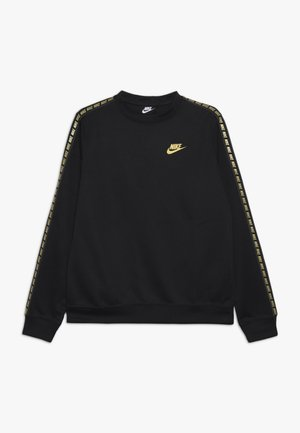 REPEAT CREW  - Long sleeved top - black/metallic gold