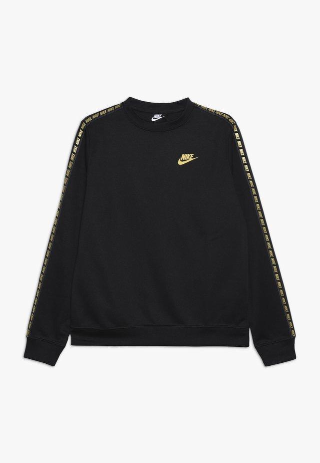 NIKE SPORTSWEAR RUNDHALSSHIRT FÜR ÄLTERE KINDER - Sweatshirt - black/metallic gold