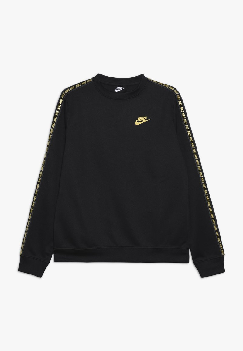 Nike Sportswear - REPEAT CREW  - Langarmshirt - black/metallic gold