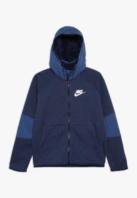 Nike Sportswear - WINTERIZED - Zip-up hoodie - midnight navy/heather/mystic navy/white - 0