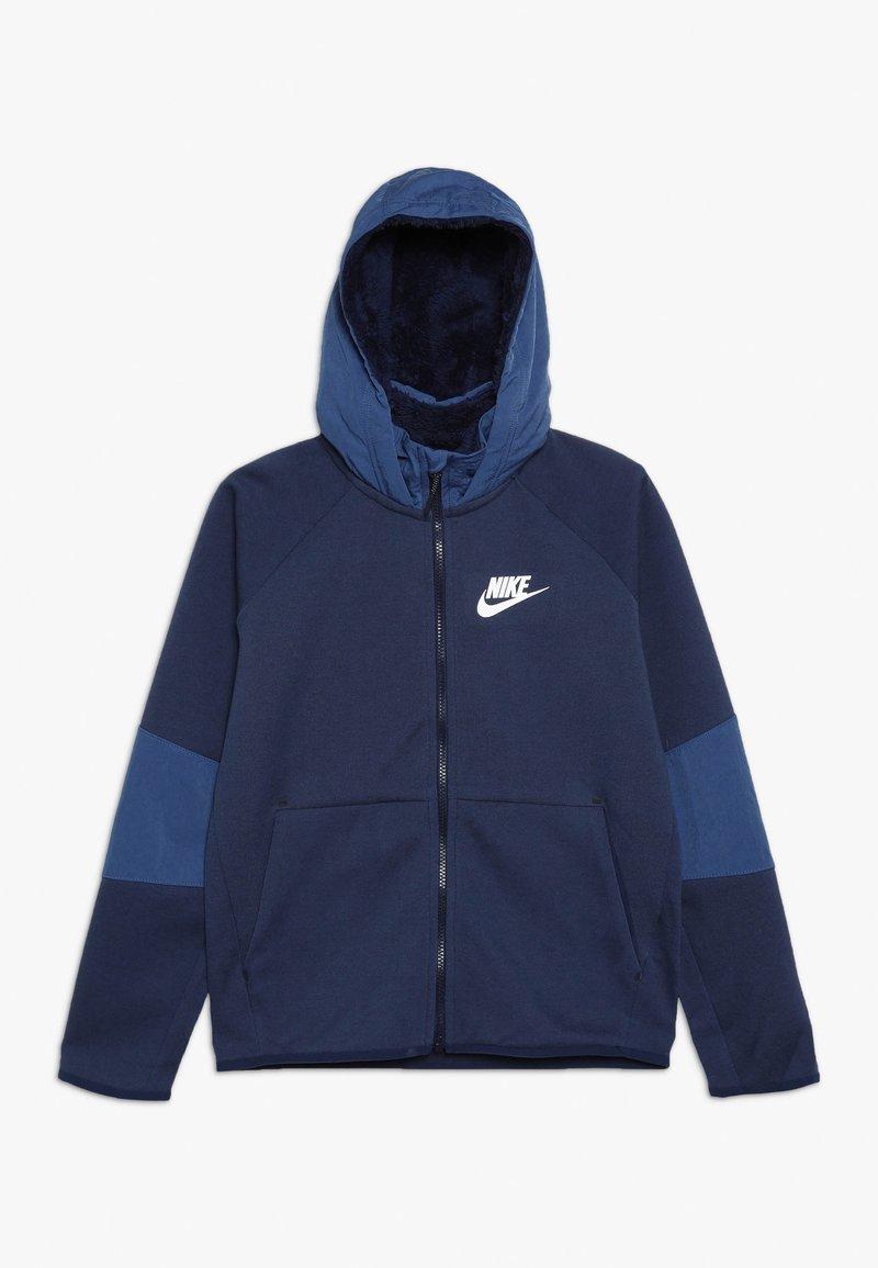 Nike Sportswear - WINTERIZED - Zip-up hoodie - midnight navy/heather/mystic navy/white