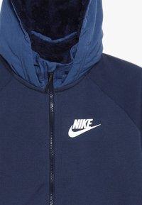 Nike Sportswear - WINTERIZED - Zip-up hoodie - midnight navy/heather/mystic navy/white - 3