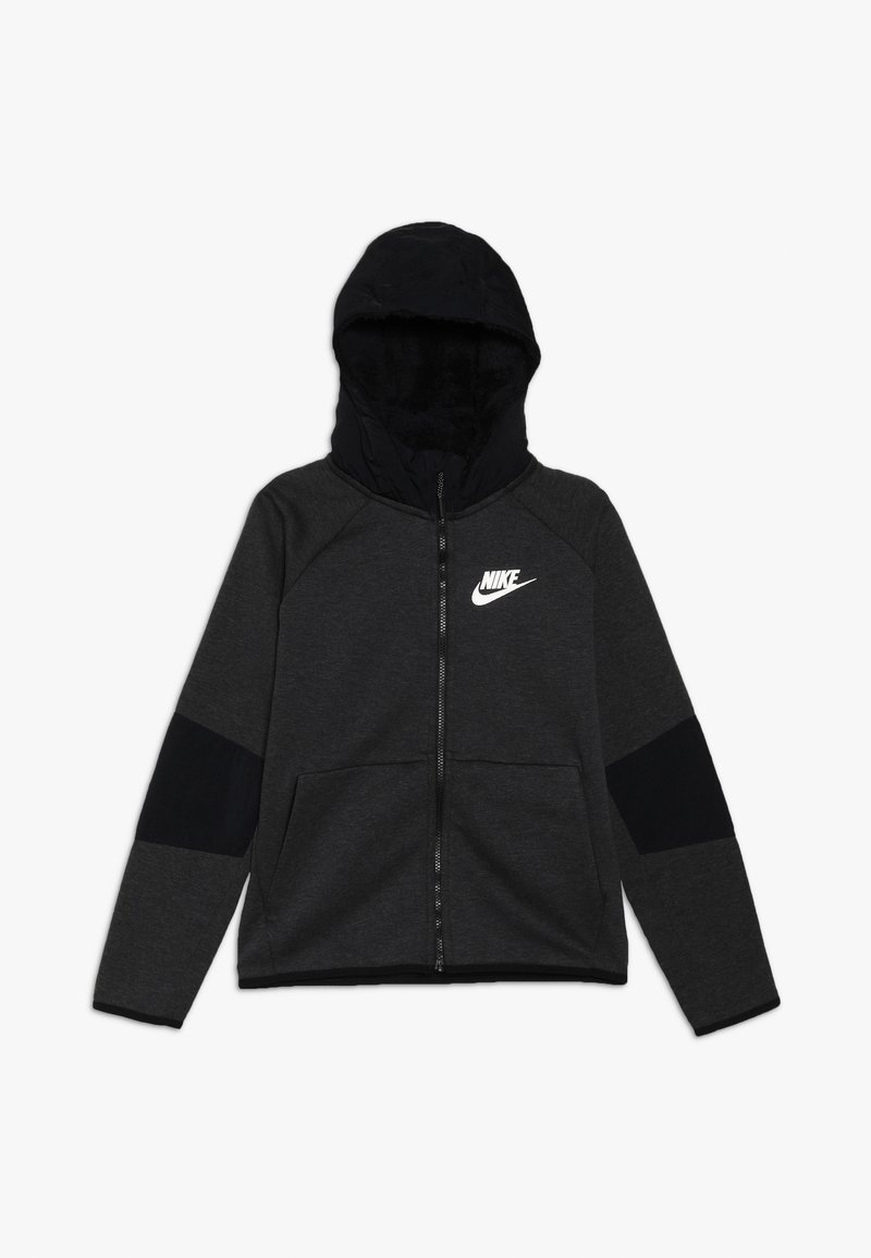 Nike Sportswear - WINTERIZED - Mikina na zip - black/heather/black/white