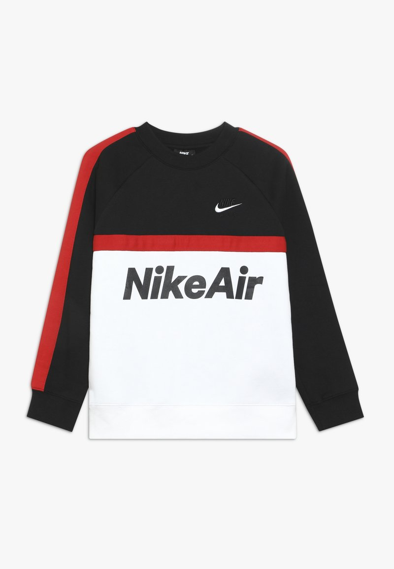 Nike Sportswear - CREW - Sweatshirt - black/white/university red
