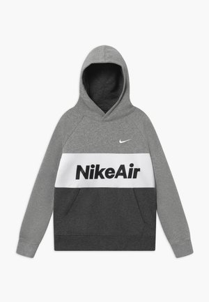 Hoodie - grey heather/charcoal/white
