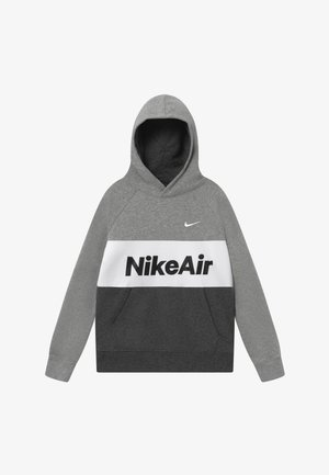 B NSW NIKE AIR PO - Hoodie - grey heather/charcoal/white