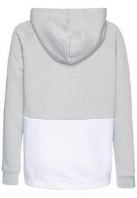 Nike Sportswear - B NSW NIKE AIR PO - Felpa con cappuccio - light smoke grey/white/black/volt - 1
