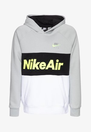 B NSW NIKE AIR PO - Sweat à capuche - light smoke grey/white/black/volt