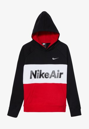 B NSW NIKE AIR PO - Jersey con capucha - black/university red/white
