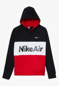 Nike Sportswear - B NSW NIKE AIR PO - Mikina skapucí - black/university red/white - 0