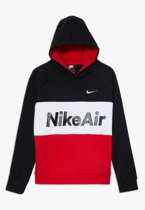 B NSW NIKE AIR PO - Bluza z kapturem - black/university red/white
