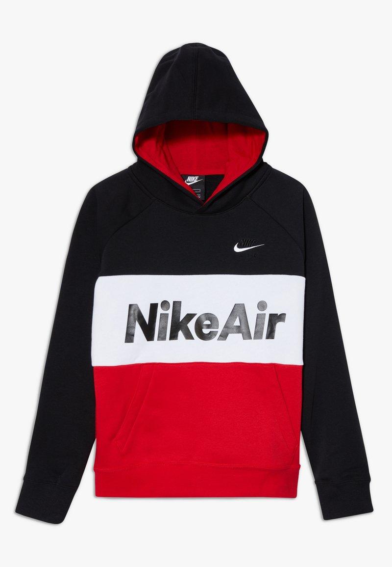 Nike Sportswear - B NSW NIKE AIR PO - Mikina skapucí - black/university red/white