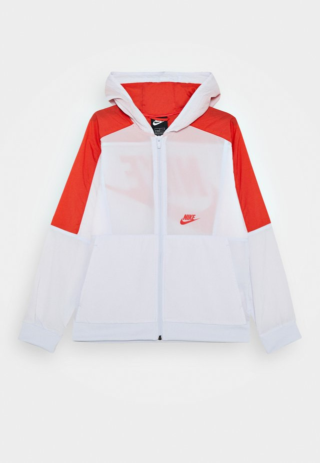 Trainingsjacke - football grey/track red/white