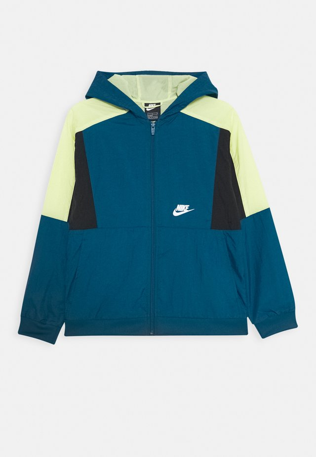 Trainingsjacke - blue force/barely volt/black/white