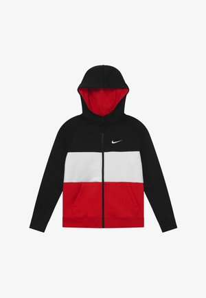 AIR - veste en sweat zippée - black/university red/white
