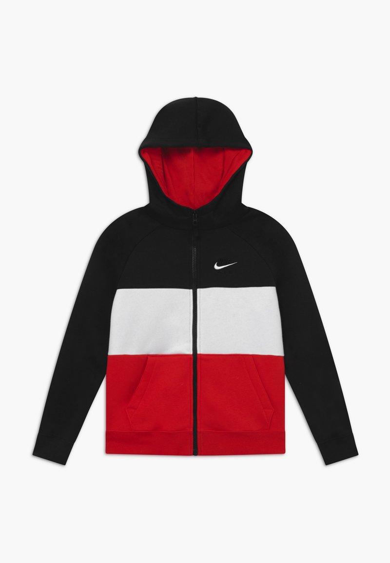 Nike Sportswear - Sudadera con cremallera - black/university red/white