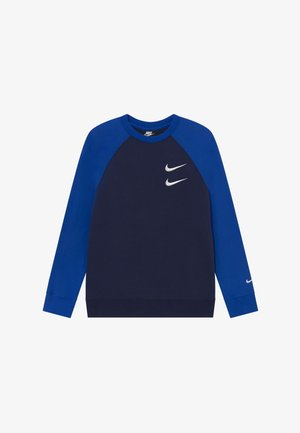 CREW - Sweatshirt - midnight navy/game royal/white