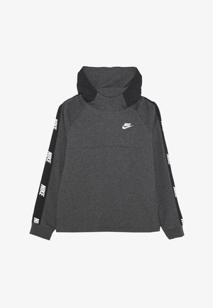 HYBRID  - Hoodie - black/charcoal heathr/white