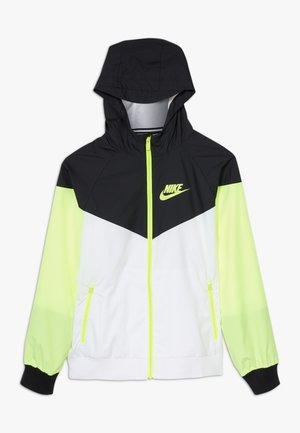 Veste de survêtement - white/black/volt