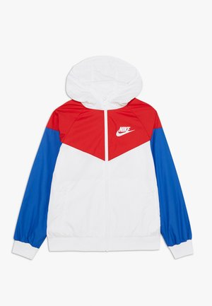 Training jacket - white/university red/game royal