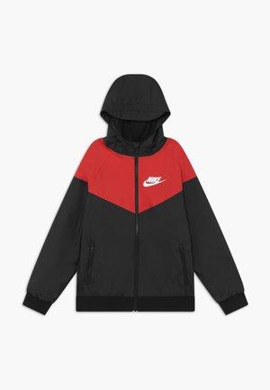 Training jacket - black/university red/white